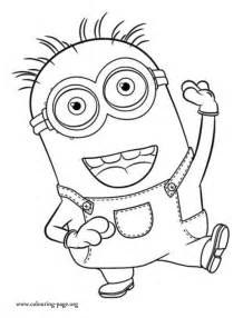 minions coloring minion stuart coloring pages