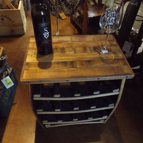 wine rack side table small barrel stave wine rack side table napa general store