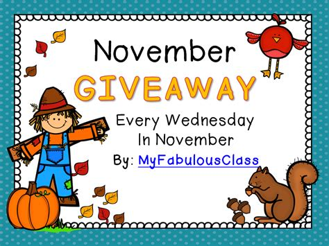 November Giveaway - my fabulous class november giveaway 1