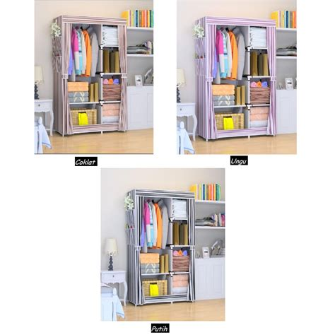 Home Klik Lemari Baju home klik lemari baju 2 sisi motif salur shopee indonesia