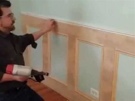 How To Build Wainscoting by Best Diy Recessed Wainscoting Installation Part 2 Of 3