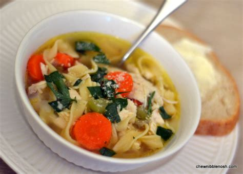 chicken noodle soup from scratch chew nibble nosh