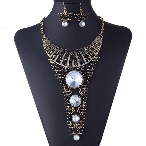 big for jewelry antique jewelry set big necklace pendant collar