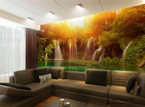 indoor wall murals large waterfall wall paper wall print decal wall deco