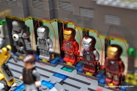 brick store lego iron man laboratory lego suit gantry
