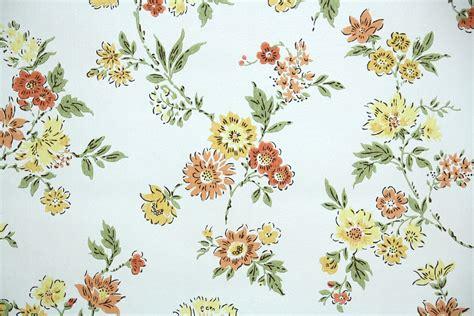 wallpaper dinding vintage flower 1960s floral vintage wallpaper hannah s treasures
