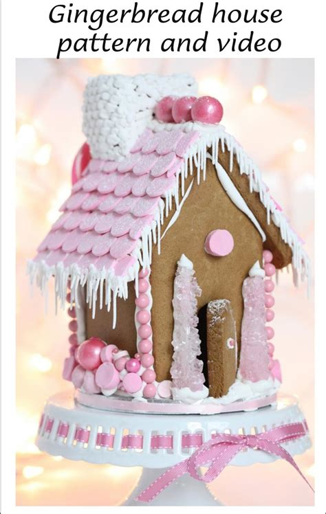 pattern for simple gingerbread house christmas gingerbread houses patterns video tutorial plus