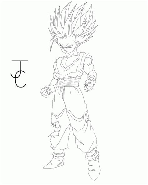dragon ball z coloring pages gohan gohan super saiyan 2 coloring pages coloring home