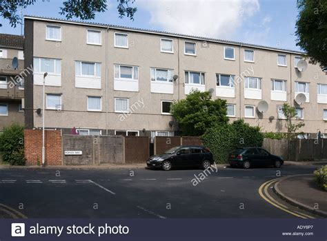houses to buy north london block of modern council house flats in enfield north london stock photo royalty free