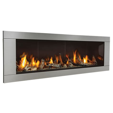 direct vent gas fireplace with glass surround and