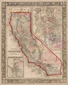 vintage map california county map of california barry ruderman antique