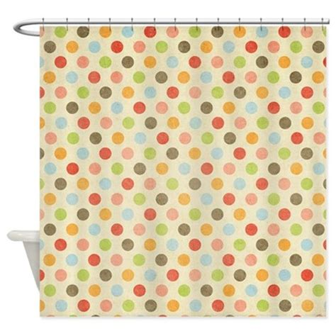 polka dot shower curtains faded rainbow polka dot shower curtain by tees4sale
