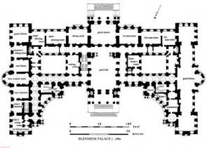 palace floor plans blenheim palace floor plan c 1860 before