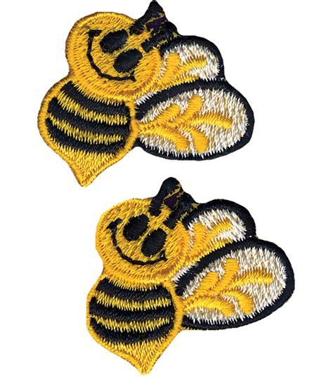 applique iron on wrights iron on appliques bumble bees 1 quot x1 1 2 quot 2 pkg jo