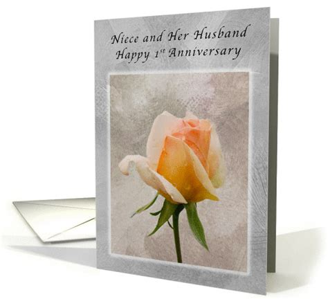 Wedding Anniversary Cards For Niece by Happy 1st Anniversary For Niece And Husband Fresh