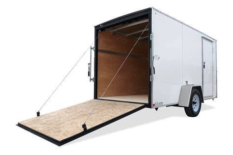 Adding Rv Style Door Latch To Enclosed Trailer - h h trailers hh ft series flat top cargo h h trailers