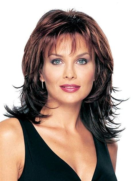 wigs medium length feathered hairstyles 2015 1000 images about hair on pinterest medium length
