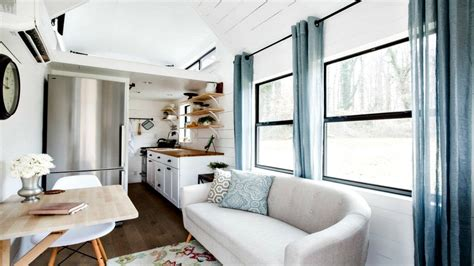 chic home interiors tiny house on wheels minimalist shabby chic interior rv