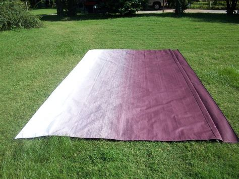 trailer awning fabric rv awning replacement fabric a e dometic 21 ft maroon