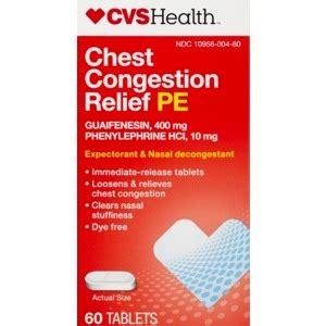 chest congestion relief cvs chest congestion relief pe tablets cvs