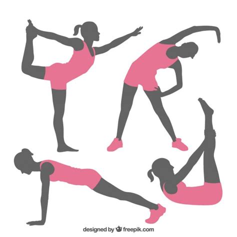 imagenes fitness animadas fitness poses silhouettes vector free download