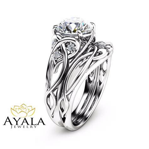 Unique Engagement Rings by 14k White Gold Unique Engagement Rings 2 Carat