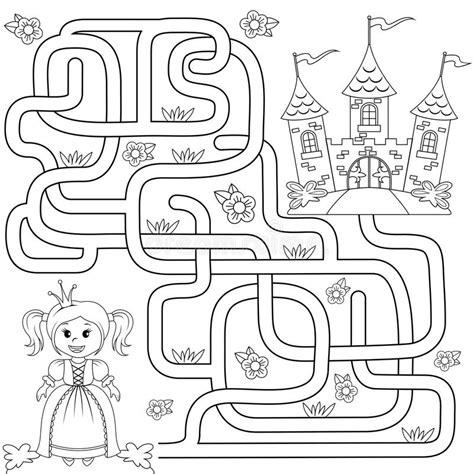 Help Little Cute Princess Find Path To Castle Labyrinth