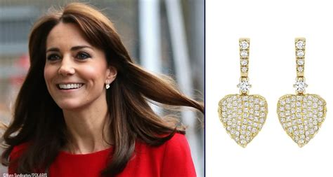 kate middleton leaf earrings jewelry