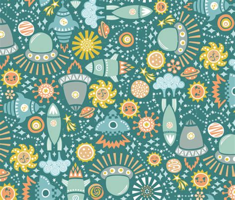 universe pattern fabric magical universe christinewitte spoonflower