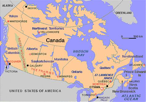map east usa and canada map of us and canada east coast