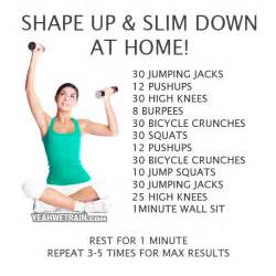 shape up and slim at home workout fitness