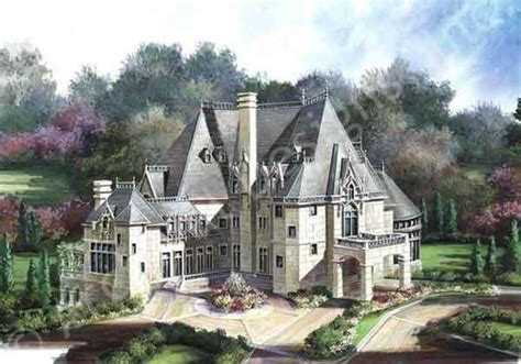chateau homes plan front chateaus and house plans on