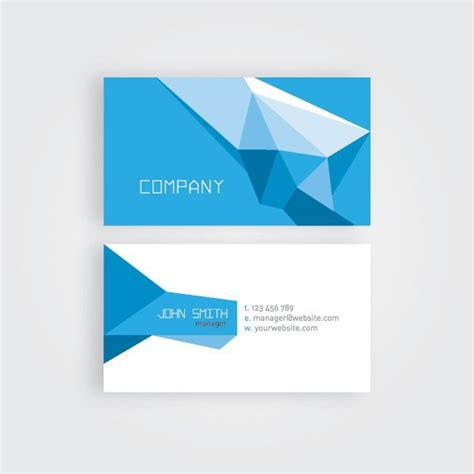 origami card template abstract polygonal origami business card vector