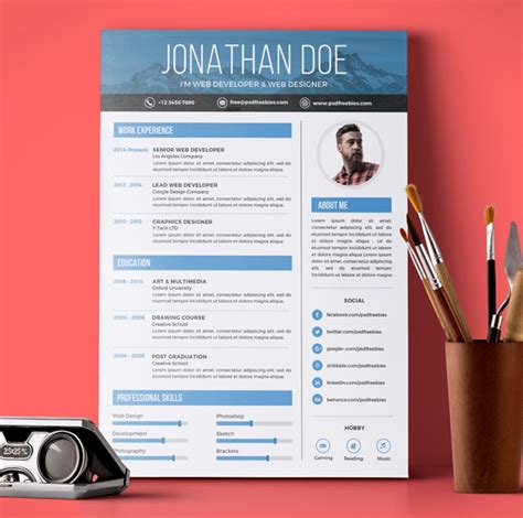 free graphic design resume template psd fresh free resume templates freebies graphic design