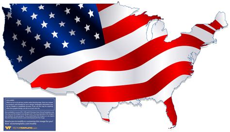 usa map states flags usa map flag