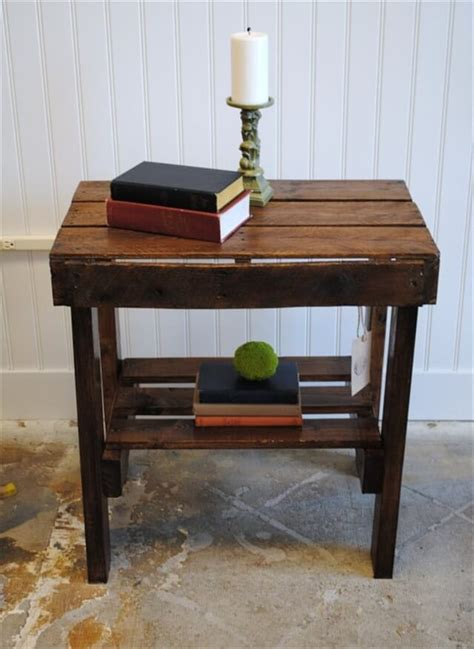 Pallet Side Table How To Make End Tables From Pallets Plans Diy Free Plans For Small Woodwork Bench