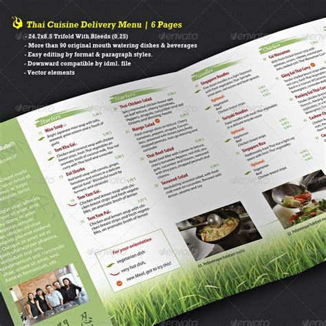 thai restaurant menu template menu restaurant menu