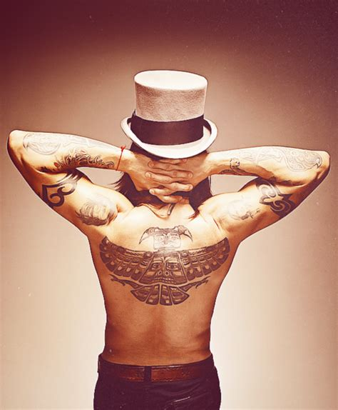 anthony kiedis back tattoo anthony kiedis