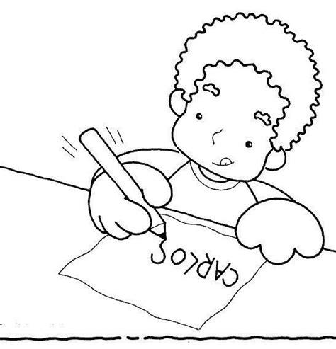 imagenes para colorear y escribir el nombre para colorear de ni 241 os escribiendo imagui
