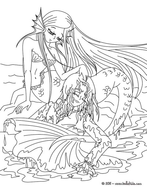 hard coloring pages of mermaids coloring pages for teenagers difficult mermaid only