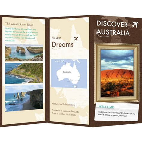 brochure template maker brochure templates sles brochure maker publisher plus