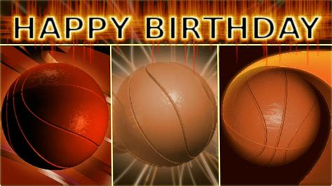 imagenes de happy birthday basketball basketball birthday card compilation youtube