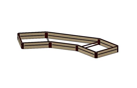raised bed brackets 6 quot tall 4x14 arched kit with wood raised bed brackets