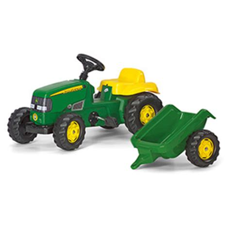 john deere 12 volt ground force with trailer   ride ons