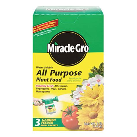 flower food packets view miracle gro 174 all purpose plant food refill packets 3