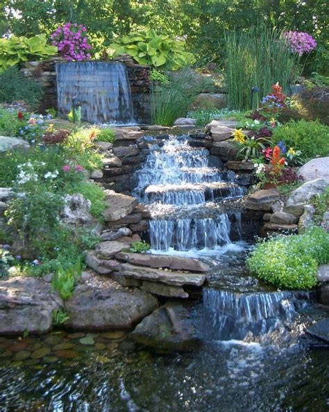 waterfalls in backyard home design ideas yard ponds and waterfalls landscape