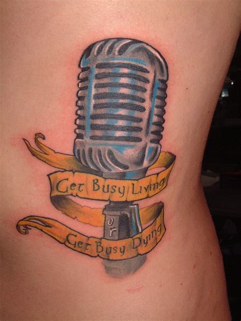 designed tattoos microphone tattoos designs ideas and meaning tattoos