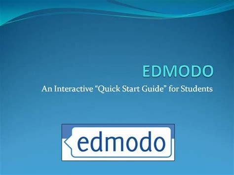 edmodo presentation edmodo a student quick start guide authorstream