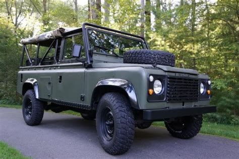 Cape Cod Interior 1986 Land Rover Defender 110 Soft Top Beach Truck For