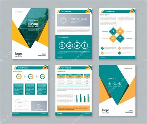 design a st template company profile annual report brochure flyer layout